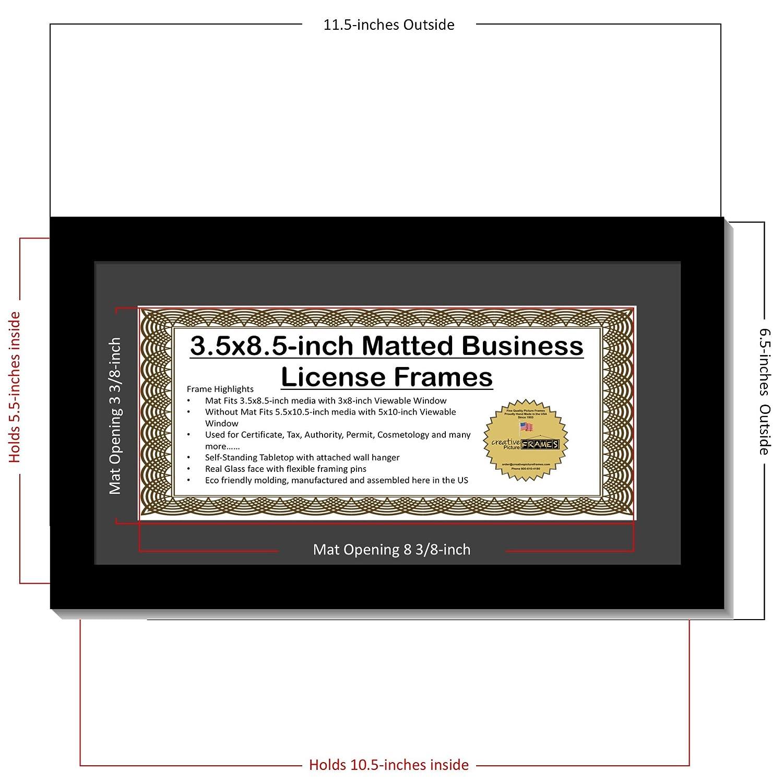 creativepf [5,5 x 10.5bk] Business Lizenz Rahmen 3,5 von 21,6 cm ...