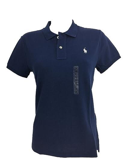 87fafea1091a26 Ralph Lauren Damen Poloshirt Polo Shirt Skinny Fit navy Größe L