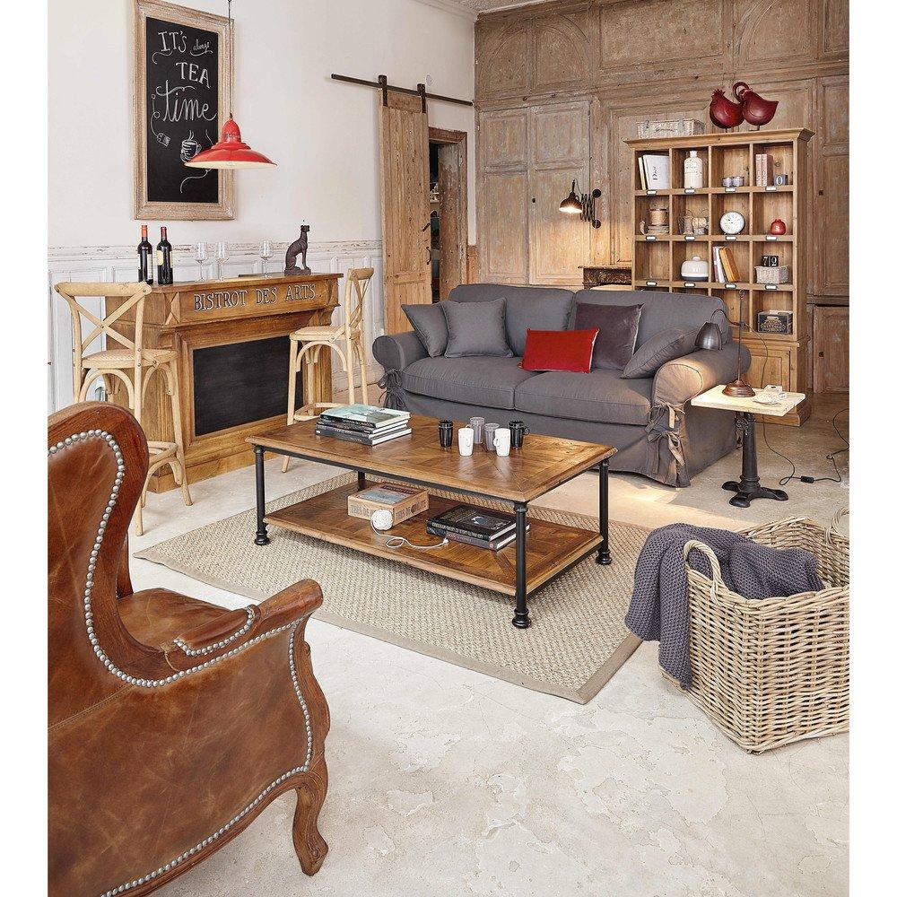 Mueble bar móvil Bistrot fabricado en madera maciza de mango ...