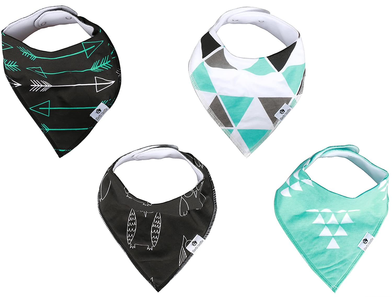 Baby Bandana Drool Bibs By Kevin Textile Unisex 4 Pack Hey Busy Bee Round Bib Absorbent Organic Cotton Best Gift For Boys Girls