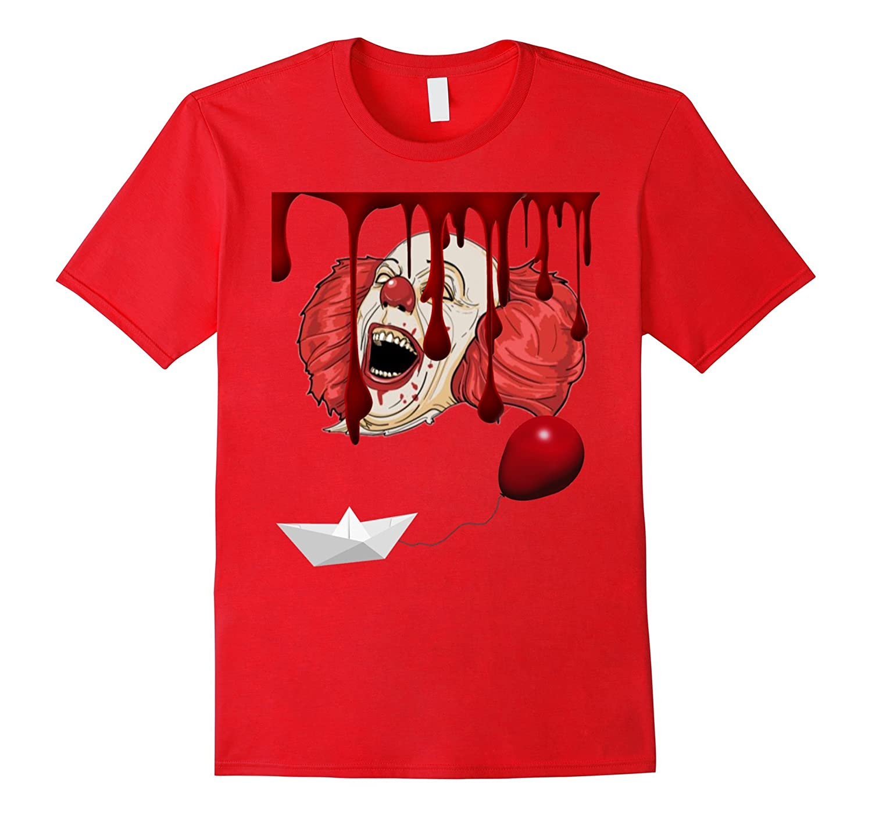 American Scary Clown Red Balloon Halloween Horror Cult Shirt-TJ