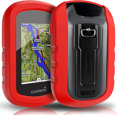 TUSITA Case for Garmin eTrex Touch 25 35 35t – Silicone Protective Cover – Handheld GPS Navigator Accessories Red