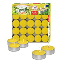 Tealight Citronella Candles - Anti Mosquito Candle - 4 Hour Burn - 100 Pack - DEET...
