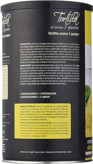 Siken Diet - Tortilla aroma 3 Quesos. Bote 400 g. 94 Kcal/ración g.