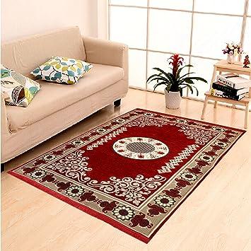 Dailz Ethnic Velvet Touch Abstract Chenille Carpet 55x80