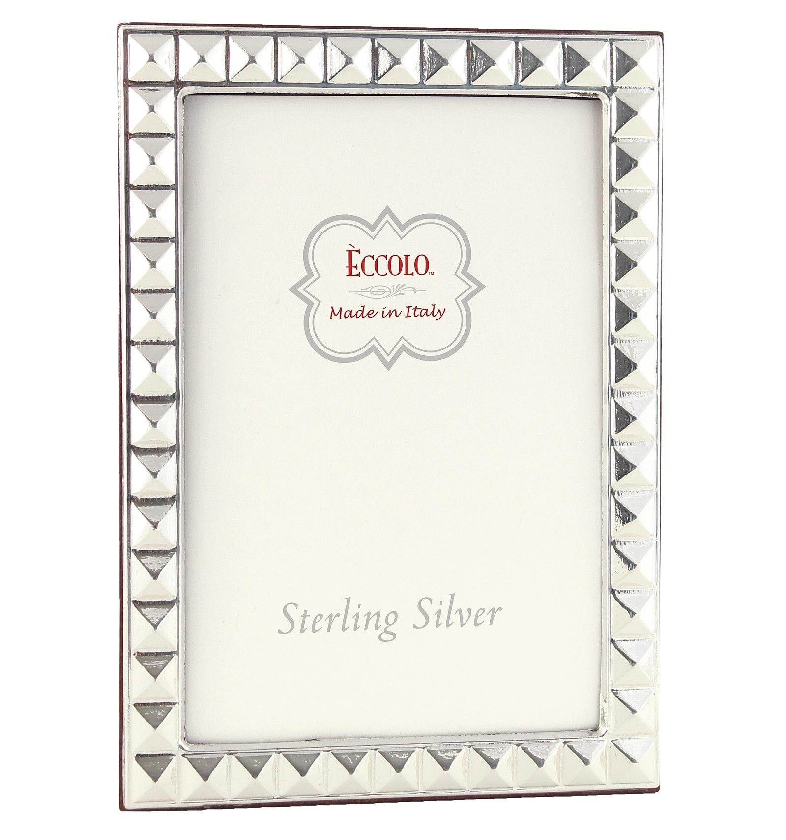 Eccolo Sterling Silver Frame, Holds 5 by 7-Inch Photo, Pyramid