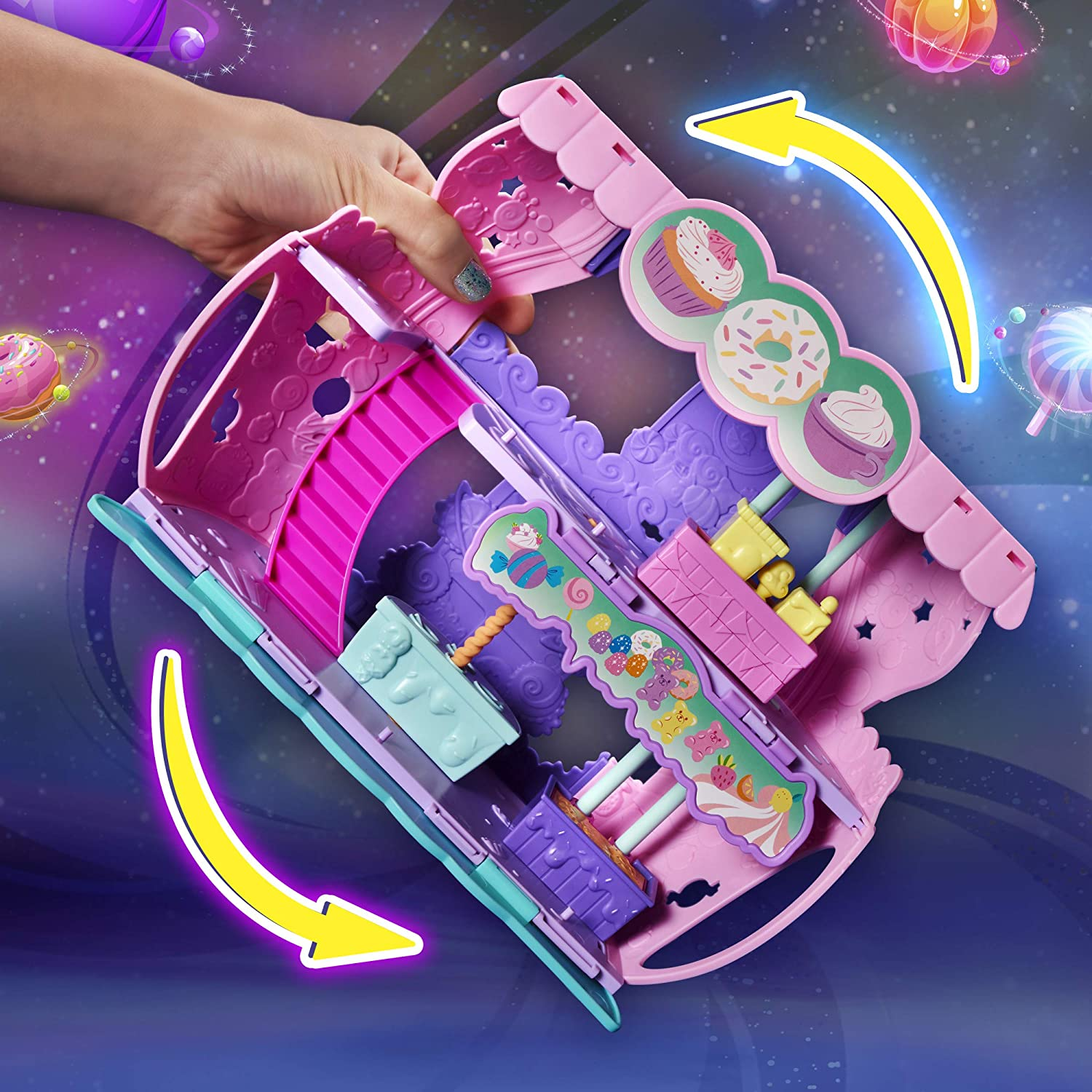 Hatchimals Colleggtibles Cosmic Candy Shop 2 In 1 Playset With Exclusive Pixie For Kids Aged 5 And Up Toys Games Amazon Com