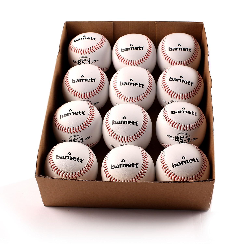 barnett BS-1 palla da baseball educazione , t 9'', c bianco 1 dozzina t 9'' 070130036001