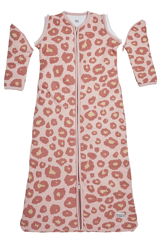 Meyco 514054 Saco de dormir de invierno 90 cm, pantera, color rosa: Amazon.es: Bebé
