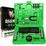 Rhino USA Tire Plug Repair Kit (56-Piece) Fix Punctures & Plug Flats with Ease - Heavy Duty Flat Tire Puncture Repair…