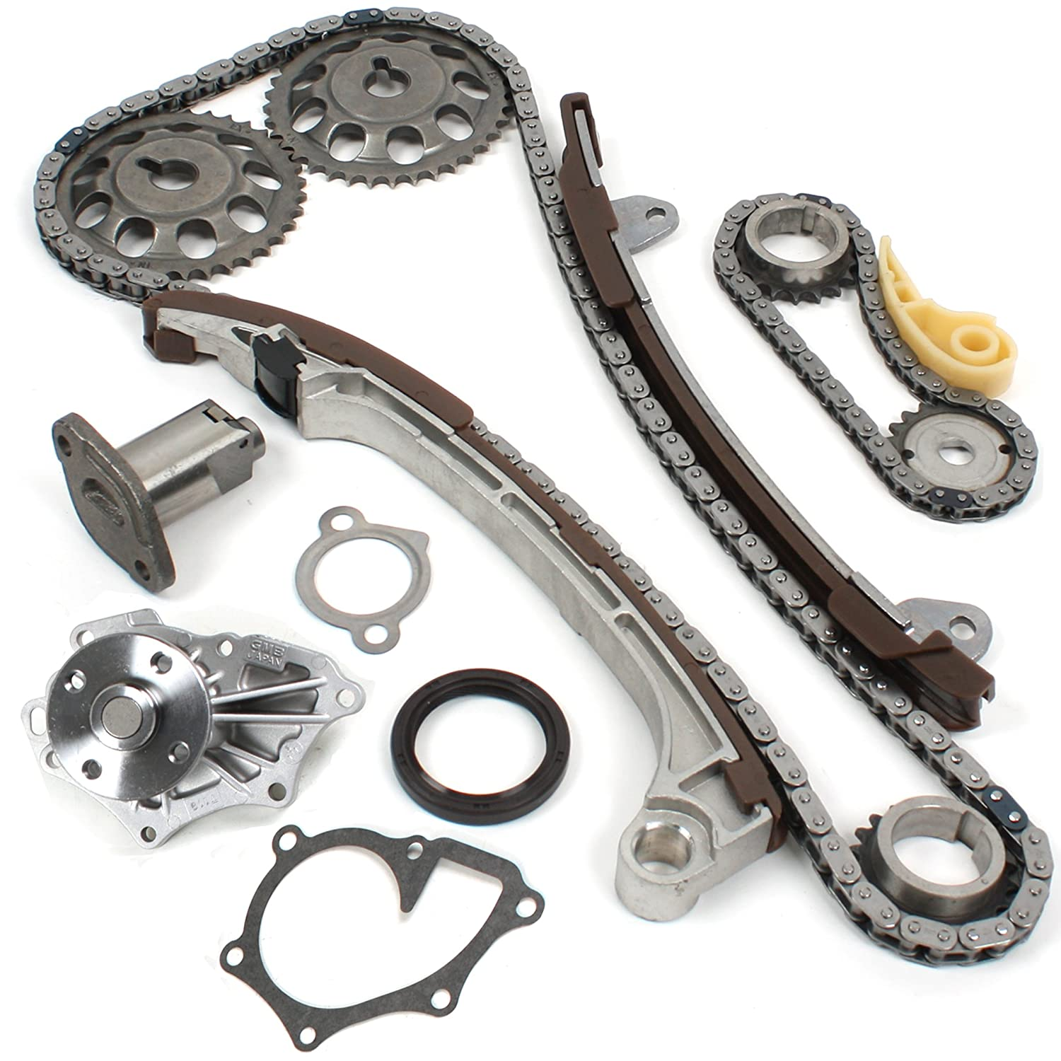 CNS TK1080WP Brand New OE Replacement Timing Chain Kit and Water Pump Set for VVT-i '2AZFE' '2AZ-FE' '1AZFE' '1AZ-FE' Engine CNS EngineParts