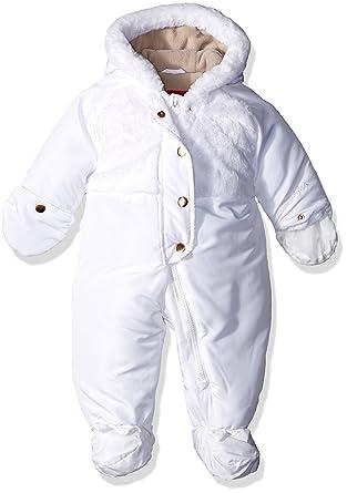 d228091fda9d Amazon.com  London Fog Girls  Heavyweight Faux Fur Yoke Pram Suit ...