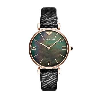 Emporio Armani Reloj Analógico para Mujer de Cuarzo con Correa en Cuero AR11060: Amazon.es: Relojes