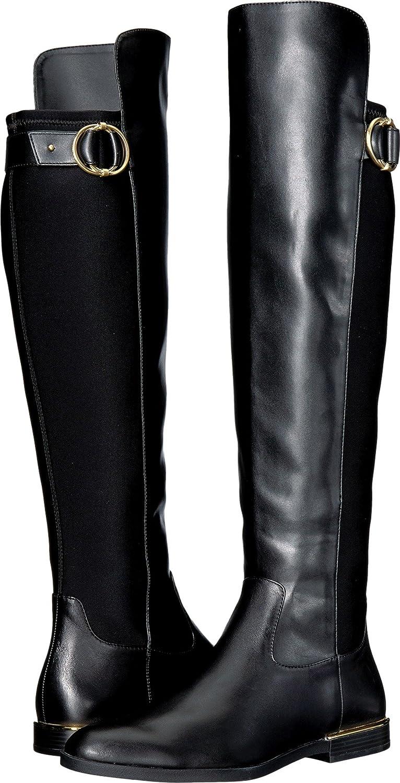 Calvin Klein Womens Priscila B075FYG9SG 5 B(M) US Black Cow Silk/Neoprene