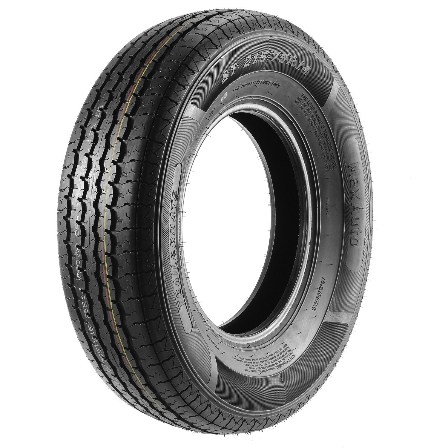 ST215/75R14 Load Range D MaxAuto Radial Trailer Tires ST215/75R-14 8Ply(Pack of 4) by MaxAuto (Image #2)