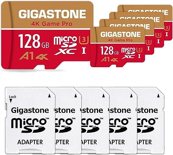 Gigastone 5er Pack Speicherkarte Microsd Karte 128gb Computer Zubehör