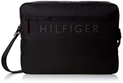 40f68a0da9 Tommy Hilfiger Light Nylon Messenger, Men's Shoulder Bag, Black, 9x32x40 cm  (B