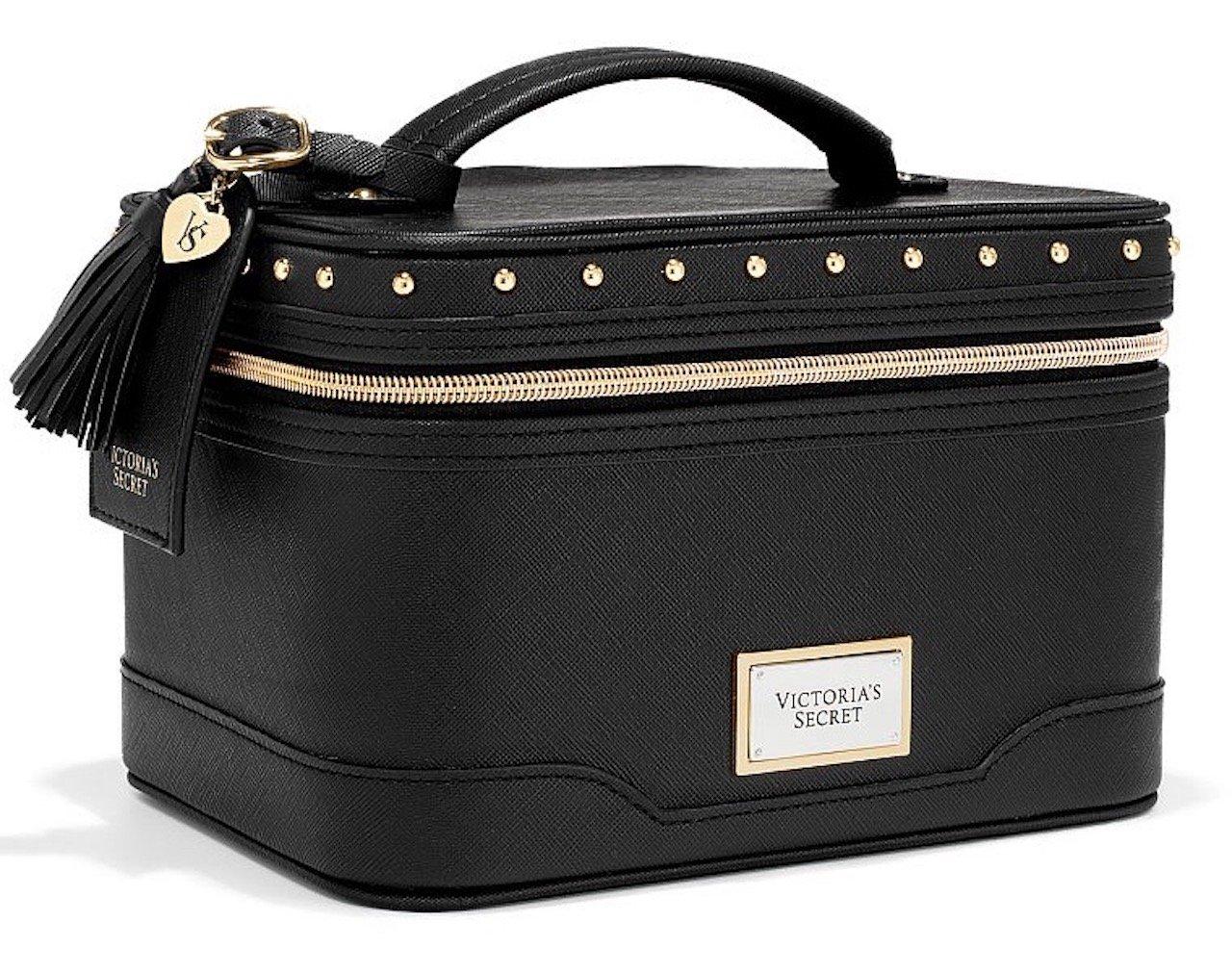 How To Make A Book Cover Out Of A Victoria S Secret Bag ~ Amazon.com : victorias secret hard cosmetic bag train case black