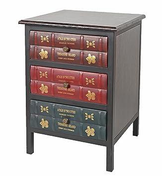 Ts Ideen Kommode Schrank Vintage Antik Buch Design Standregal British Style  43 X 59 Cm