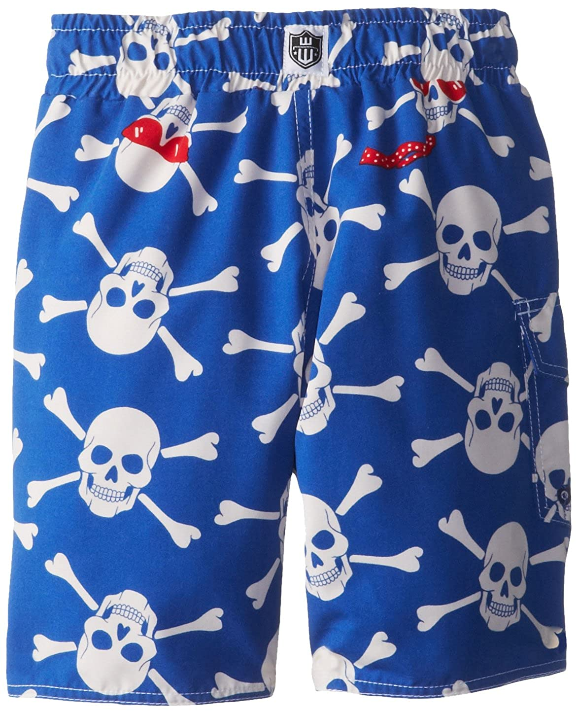 Wes /& Willy Little Boys Skull Sunglasses Swim Trunk Toddler Blue Jay 4T Wes /& Willy Boys 2-7