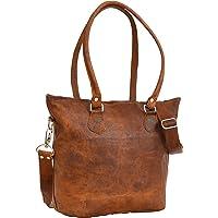 Gusti Handbag Leather -Therese- Shoulderbag Shopper Crossbody Ladies Handbag Brown