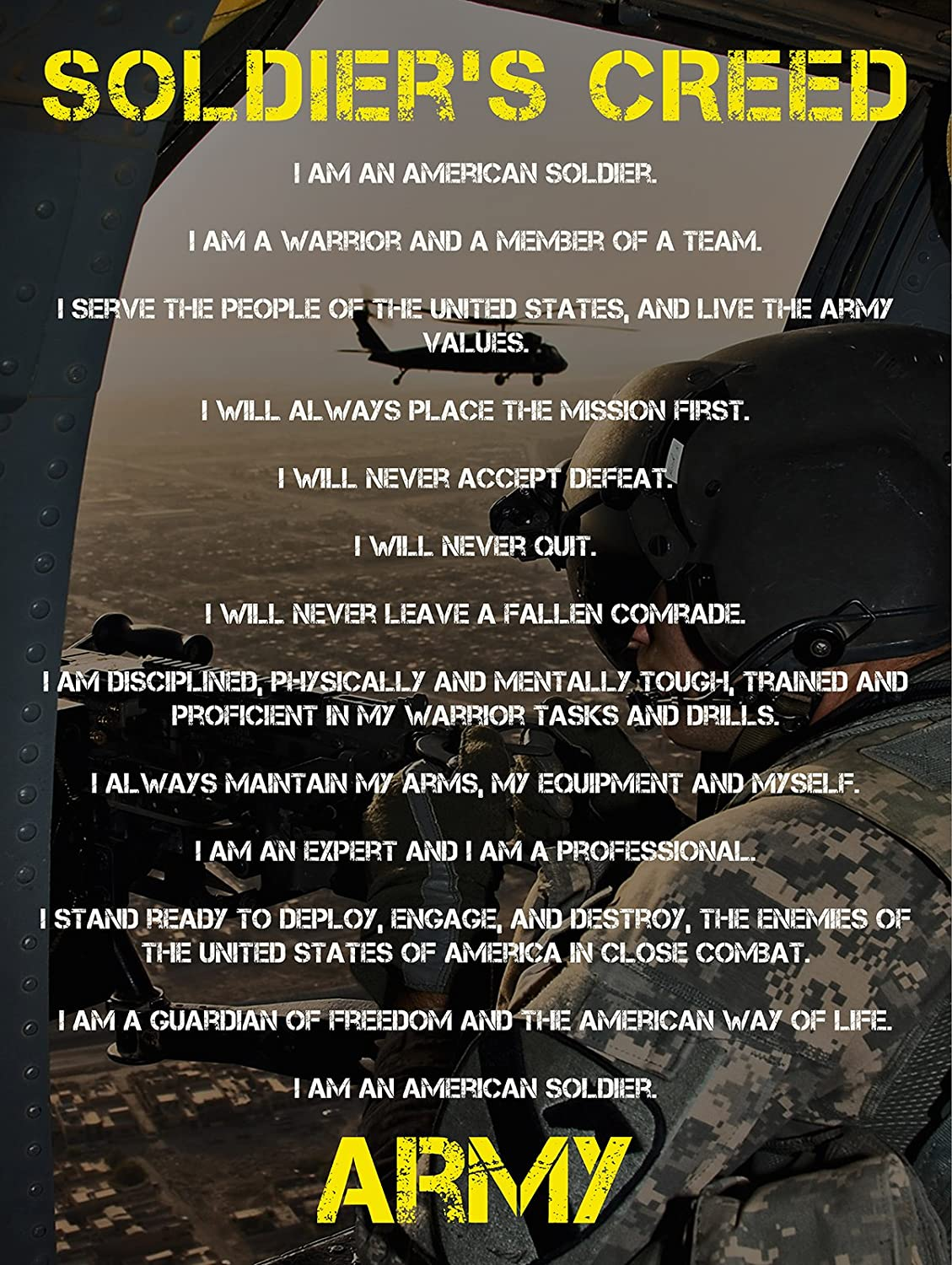 what is normally a members of the military creed