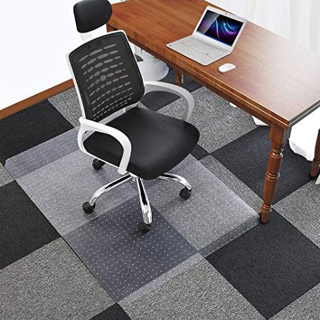 """Amazon.com : Office Chair Mat for Carpets Floors Heavy Duty Carpet Chair Mat For Low And Medium Pile Carpets 48"""" x 36"""", Rug Protector Chair Mat : Office ..."""