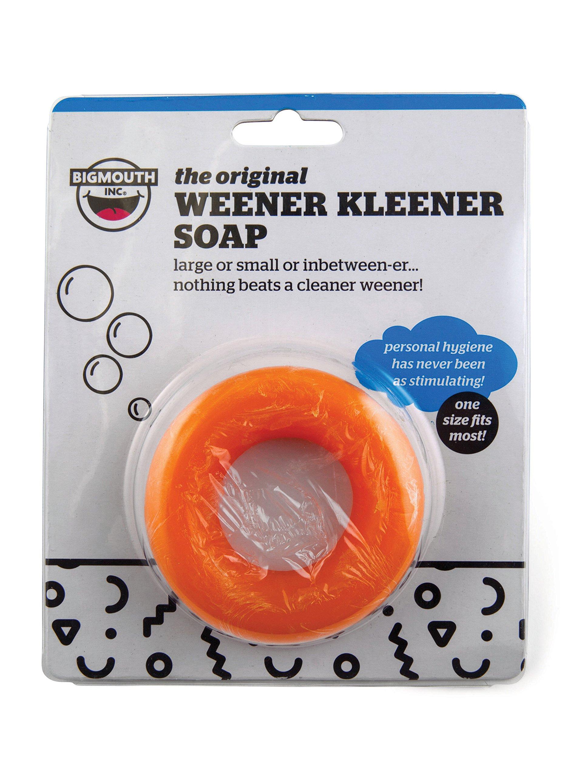 BigMouth Inc Generic Weener Kleener Soap, Circular Soap Product, Funny Gag Gift