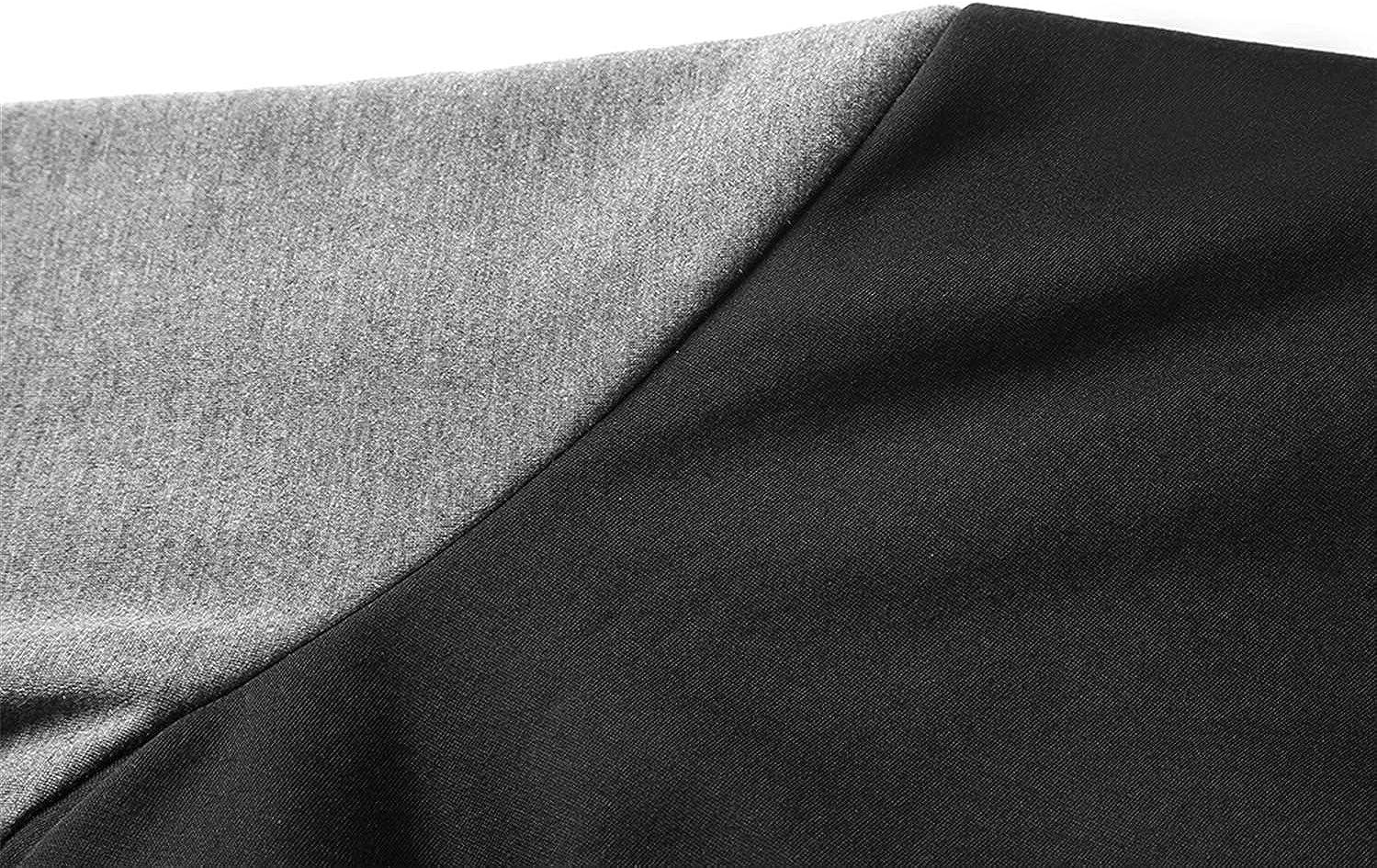 BOBD-DW Cardigan pour Homme De Assortie Et Rembourré De Mens Zipper Hoodie Outwear Tops Pull Blouse Manteaux Veste en Polaire Demon Slayer: Kimetsu no Yaiba A
