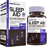 PRIMAL ONE Sleep AID - Non Habit Forming Sleep Support & Adrenal Fatigue Supplement - Stress Relief, Better Mood & Relaxation