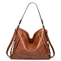 Purses for Women - GZCZ Hobo Handbags Leather Shoulder Bags Large Capacity Tote Crossbody Bags with Adjustable Shoulder Strap