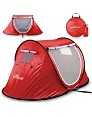 Pop Up Tent - Automatic Instant Tent - Portable Cabana Beach Tent - Fits 2 People - Windows and Doors on Both Sides - Water Resistant, UV Protection Sun Shelter - Carry Bag Included