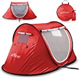 Pop-up Tent An Automatic Instant Portable Cabana Beach Tent - Suitable For upto 2 People - Doors on Both Sides - Water-resistant & UV Protection Sun Shelter - With Carrying Bag