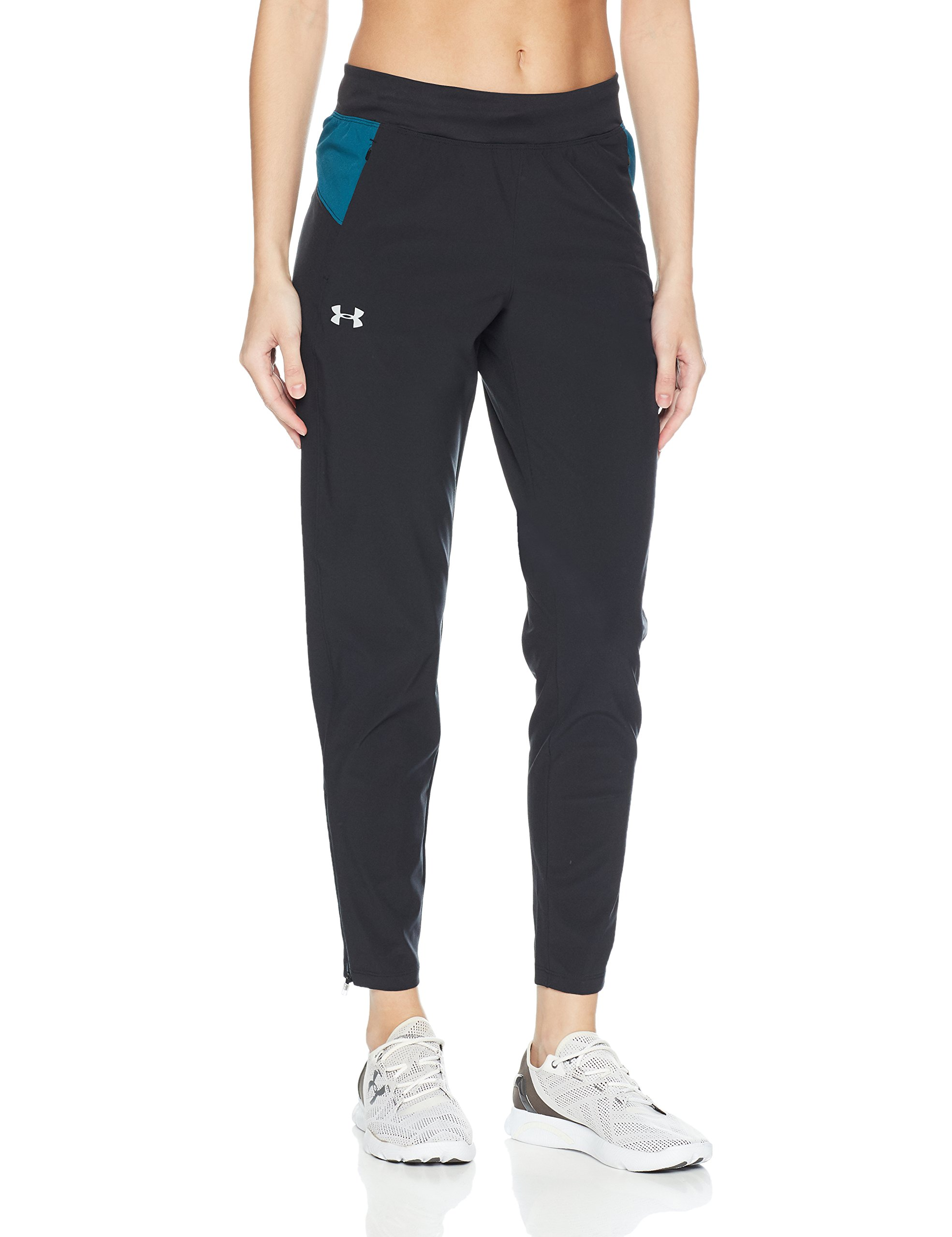 Under Armour Women's OutRun The Storm Pants, Black (002)/Reflective, Small