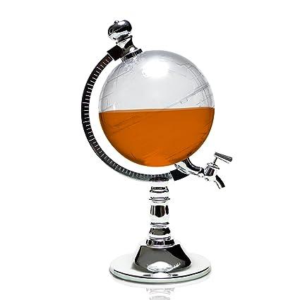 """Dispensador de bebidas con diseño """"Globus"""" - Transparente, aproximadamente 1 litro -"""