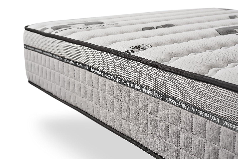 Colchón ViscoCarbone - Espuma BioMemory - Espuma HR Aerolatex - 7 zonas de confort - 25 cm - 90 x 190 cm: Amazon.es: Hogar