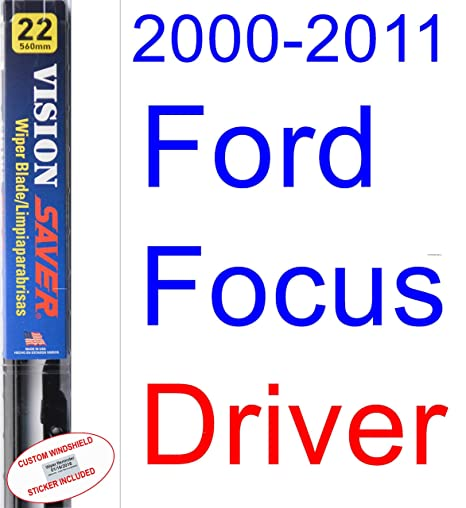 Amazon.com: 2000-2011 Ford Focus Wiper Blade (Driver) (Saver Automotive Products-Vision Saver) (2001,2002,2003,2004,2005,2006,2007,2008,2009,2010): ...
