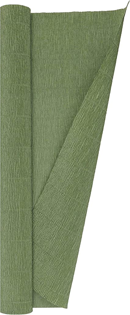 Premium Heavy Italian 180 g Crepe Paper Roll 13.3 sqft Leaf Green