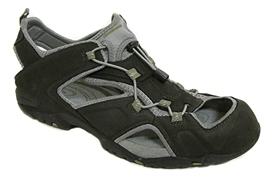 by New Balance Men's Vibe Ruggards Black Fisherman Sandals US 14