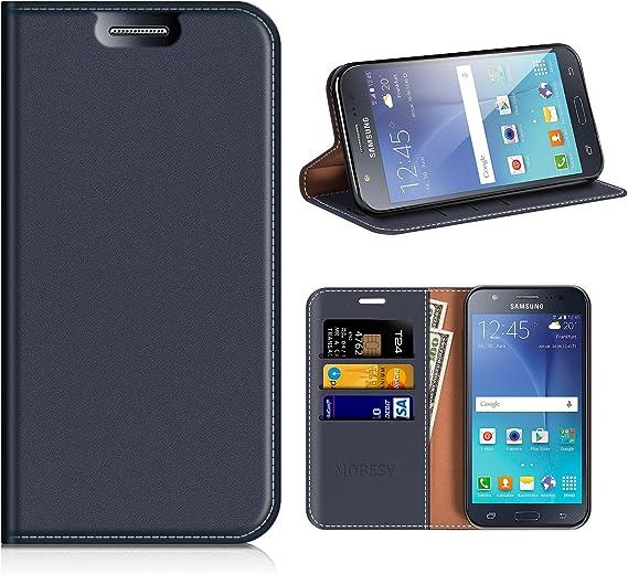 MOBESV Funda Cartera Samsung Galaxy J5 2015, Funda Cuero Movil Samsung J5 2015 Carcasa Case con Billetera/Soporte para Samsung Galaxy J5 2015: Amazon.es: Electrónica
