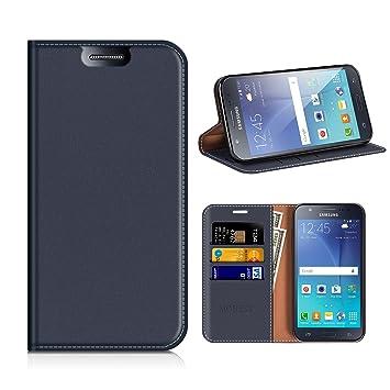 MOBESV Funda Cartera Samsung Galaxy J5 2015, Funda Cuero Movil Samsung J5 2015 Carcasa Case con Billetera/Soporte para Samsung Galaxy J5 2015 - Azul ...