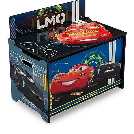 530ac73273b3 Delta Children Deluxe Toy Box, Disney/Pixar Cars