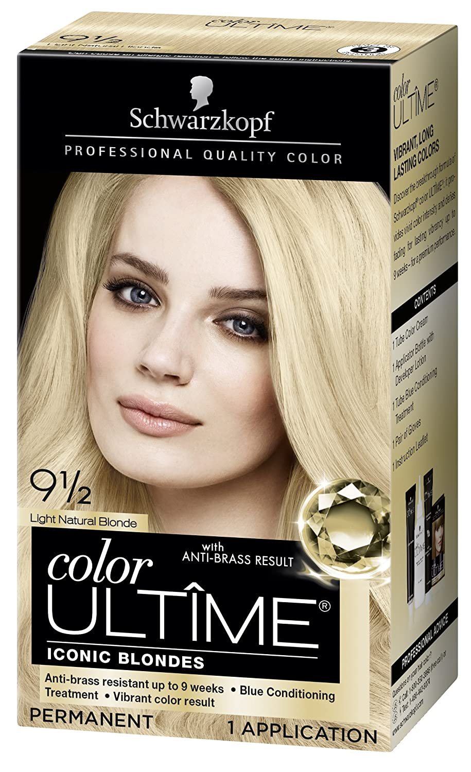 Schwarzkopf Ultime Hair Color Cream, Light Natural Blonde, 9.5, 2.03 Ounces
