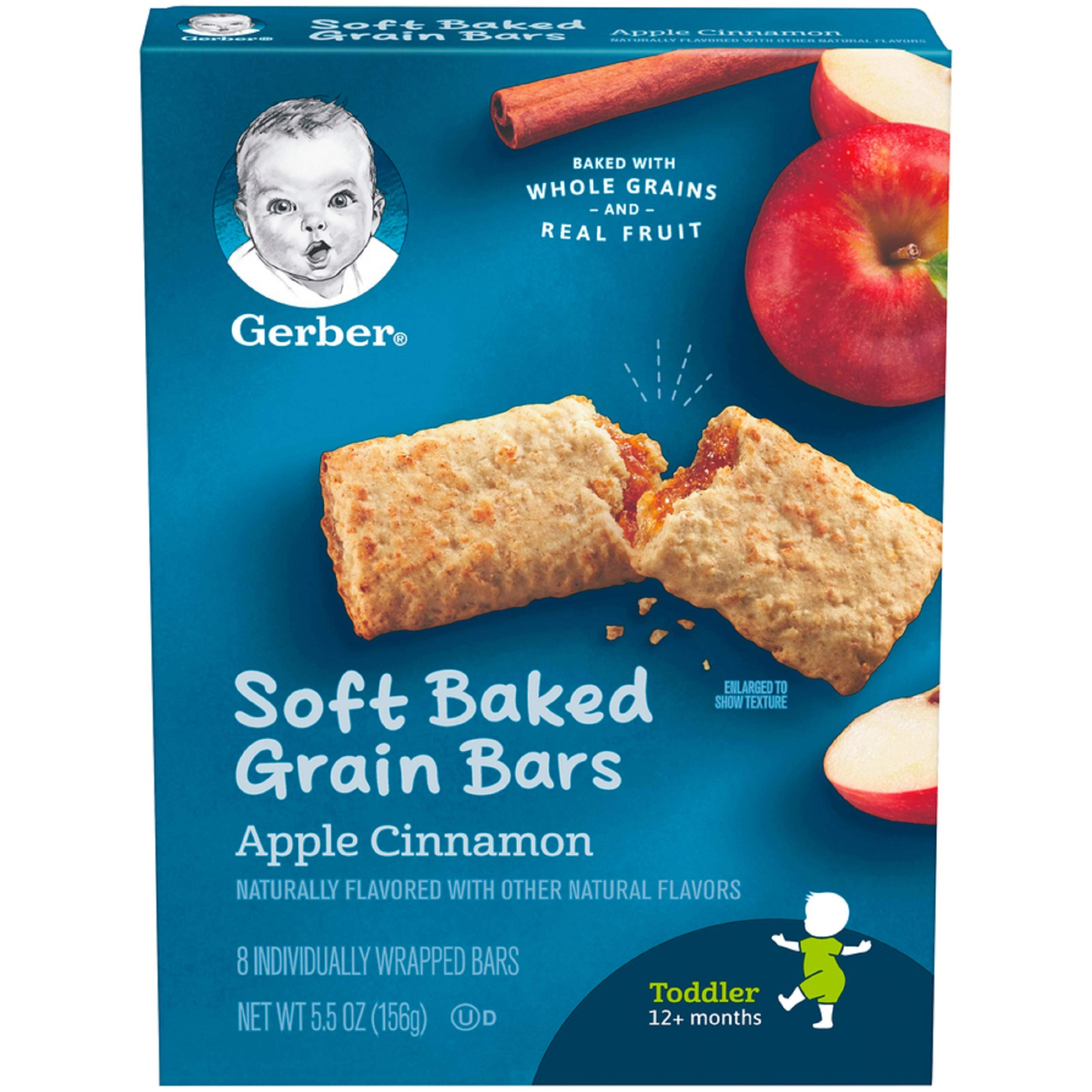 Gerber Graduates Cereal Bars, Apple Cinnamon, 8 Count by Gerber Graduates