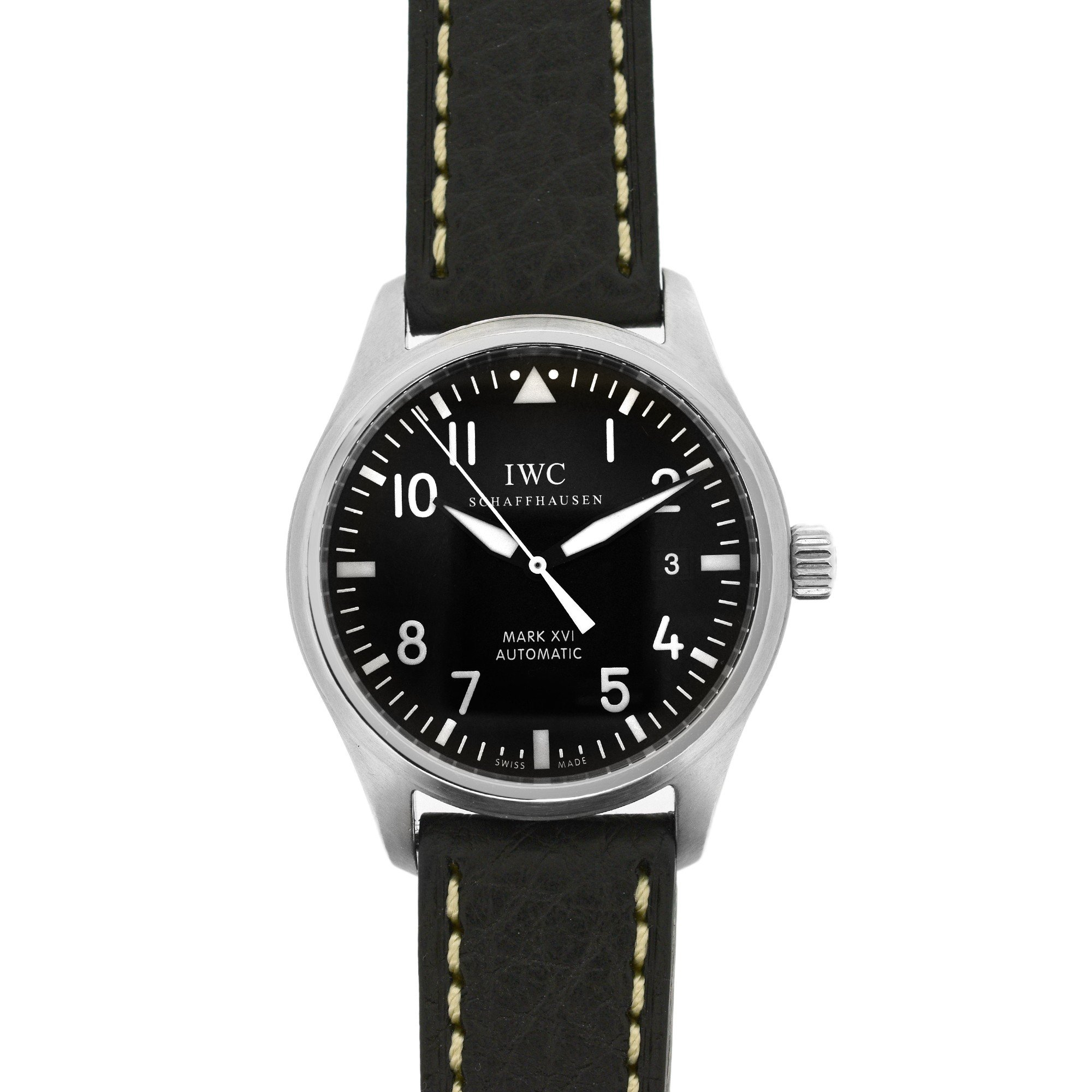 IWC MARK XVI automatic-self-wind mens Watch IW3255-01 Strap (Certified Pre-owned)
