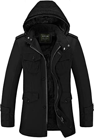 Cresay Men's Long Hooded Thick Trench Coat Winter Outwear Jackets Padded  Jacket at Amazon Men's Clothing store