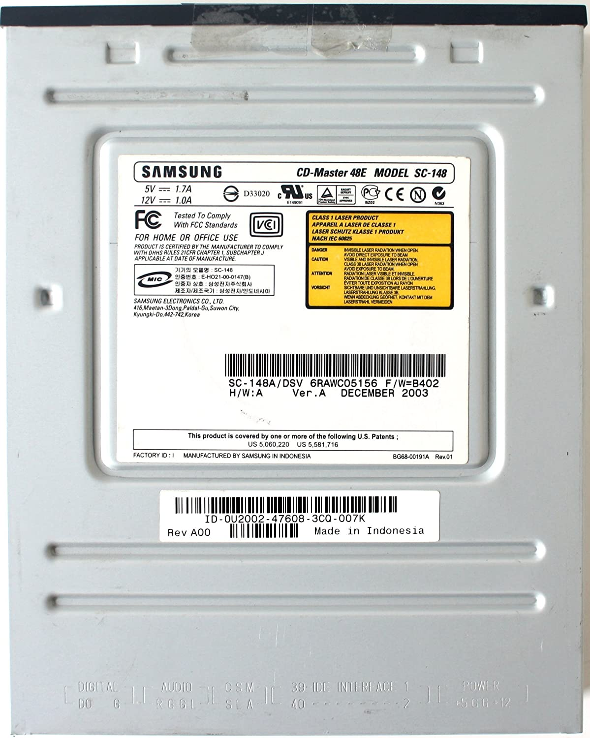 SAMSUNG CD ROM SC-148A WINDOWS DRIVER DOWNLOAD