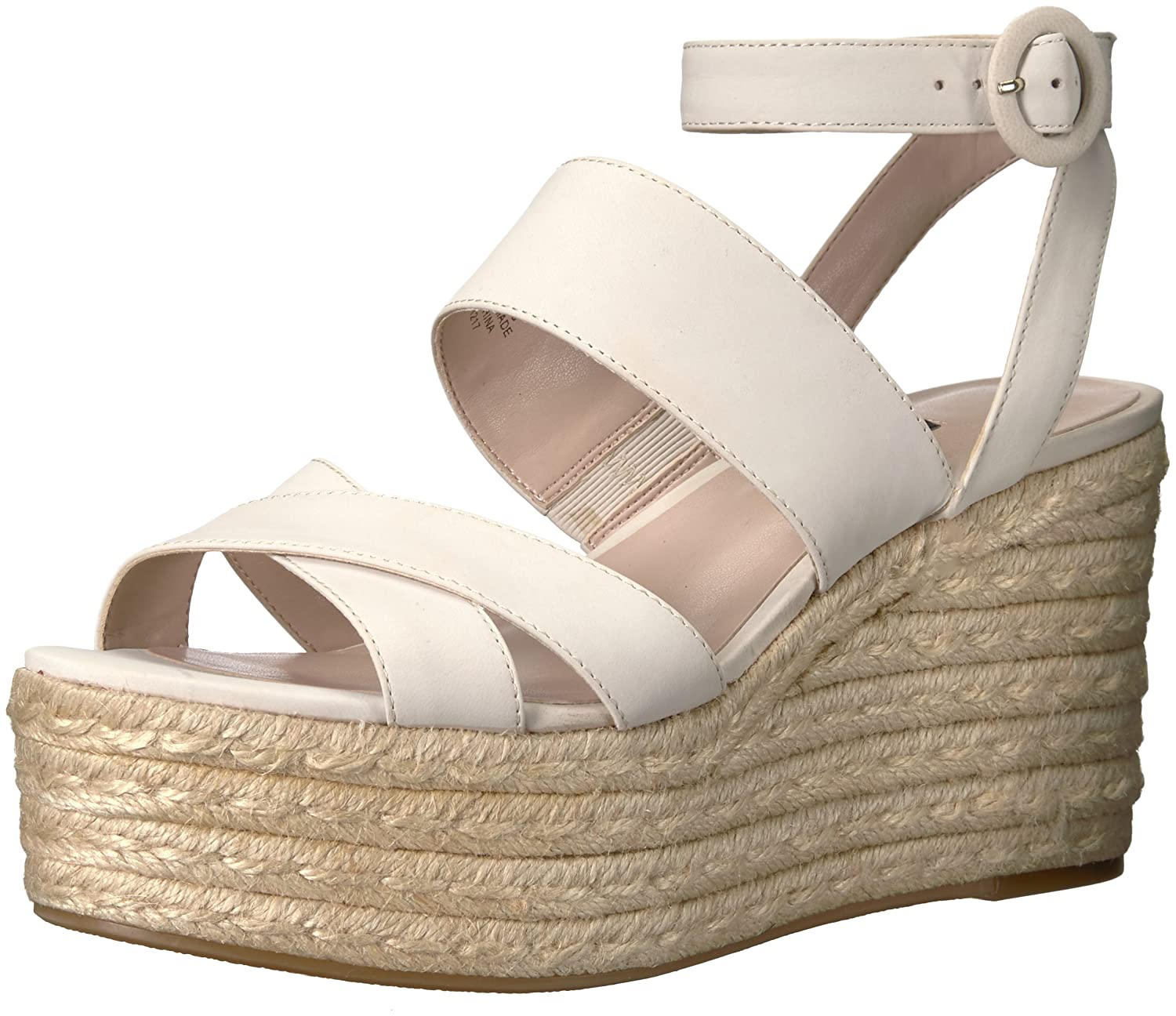 4202856ef Amazon.com | Nine West Women's KUSHALA Nubuck Wedge Sandal | Platforms &  Wedges