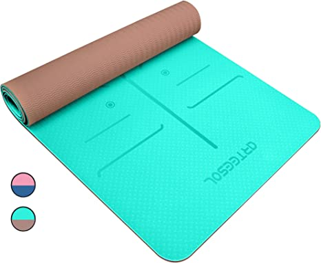 arteesol Yoga Mat, Non-Slip TPE Exercise Mat Eco-Friendly High Density All-Purpose Fitness Mat with Carring Strap for Yoga, Pilates and Floor ...