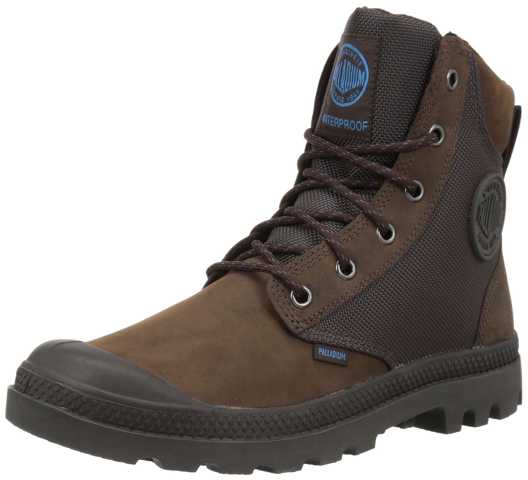 Palladium Boots Pampa Sport Cuff Wpn Waterproof Boots, Chocolate/ForgedIron,3.5